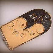 Сумки и аксессуары ручной работы. Ярмарка Мастеров - ручная работа Футляр для ключей кожа с вышивкой. Handmade.