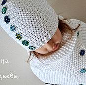 Работы для детей, ручной работы. Ярмарка Мастеров - ручная работа Комплект  - Беленький со стразиками. Handmade.