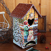 Для дома и интерьера handmade. Livemaster - original item Winter tea house with dogs. Handmade.
