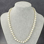 Работы для детей, handmade. Livemaster - original item Natural river pearl beads with gold fittings. Handmade.