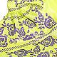 """Order Платье-вышиванка """"Искрящиеся Розы"""" лимонное. Plahta Viktoriya. Livemaster. . Dresses Фото №3"""