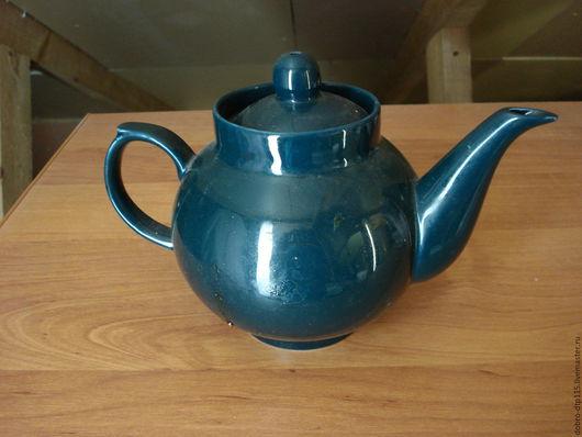 Винтажная посуда. Ярмарка Мастеров - ручная работа. Купить чайник заварочный. Handmade. Тёмно-зелёный, чайник заварочный, дулевский фарфор