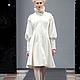 """Верхняя одежда ручной работы. Ярмарка Мастеров - ручная работа. Купить Белое пальто """"Маруся"""". Handmade. Белый, пальто демисезонное"""