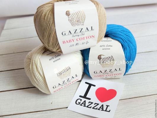Вязание ручной работы. Ярмарка Мастеров - ручная работа. Купить Gazzal Baby Cotton. Handmade. Белый, в наличии, вязание