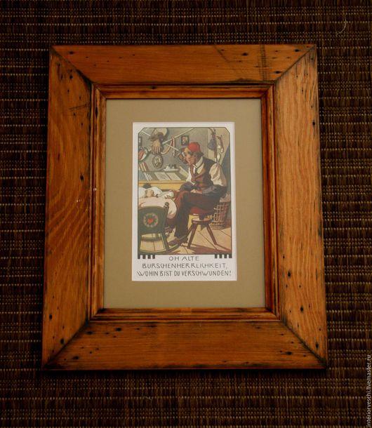 Самодельные рамки с немного увеличенными старинными открытками из частной коллекции. Рамки искусственно состарены.