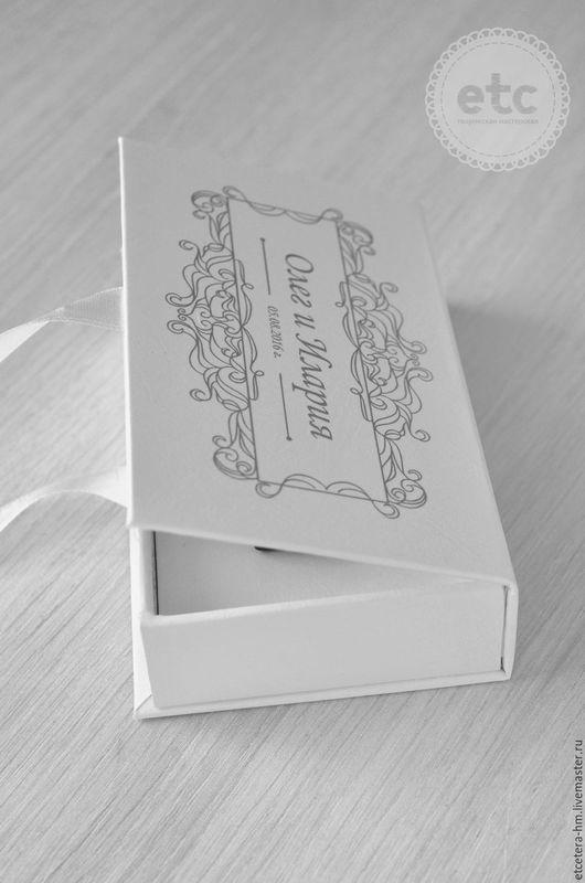 Подарочная упаковка ручной работы. Ярмарка Мастеров - ручная работа. Купить Коробочка для флешки. Handmade. Белый, набор для фотосессии