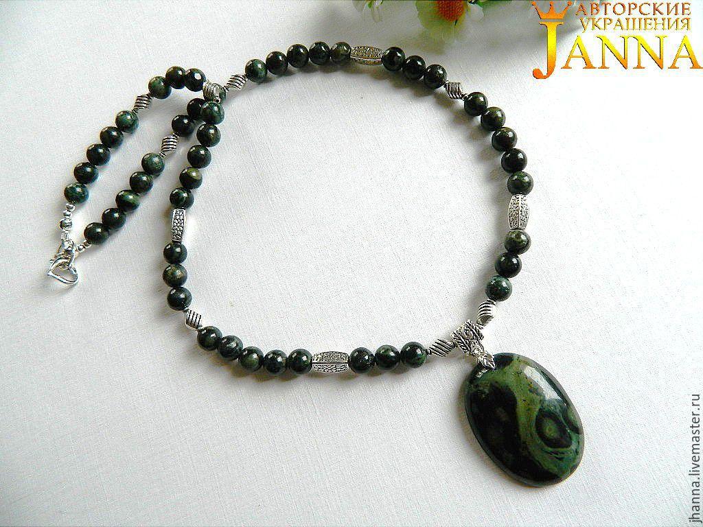 Necklace made of Jasper kambaba crocodile skin, Necklace, Volgograd,  Фото №1