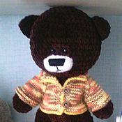 Мягкие игрушки ручной работы. Ярмарка Мастеров - ручная работа Медведь Плюша. Handmade.