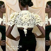 Одежда ручной работы. Ярмарка Мастеров - ручная работа Вязаное болеро от Olga Lace. Handmade.