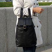 Сумки и аксессуары handmade. Livemaster - original item Backpack women`s leather black Nika Mod P10-712. Handmade.