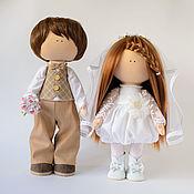 Тыквоголовка ручной работы. Ярмарка Мастеров - ручная работа Жених и невеста, текстильные куклы. Handmade.