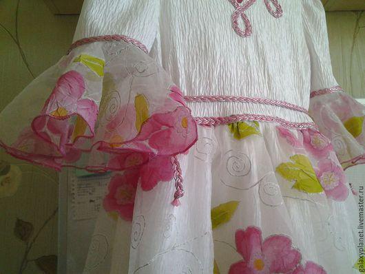 """Одежда для девочек, ручной работы. Ярмарка Мастеров - ручная работа. Купить Нарядное платье """"Бал цветов"""" бело-розово-серебристое. Handmade."""