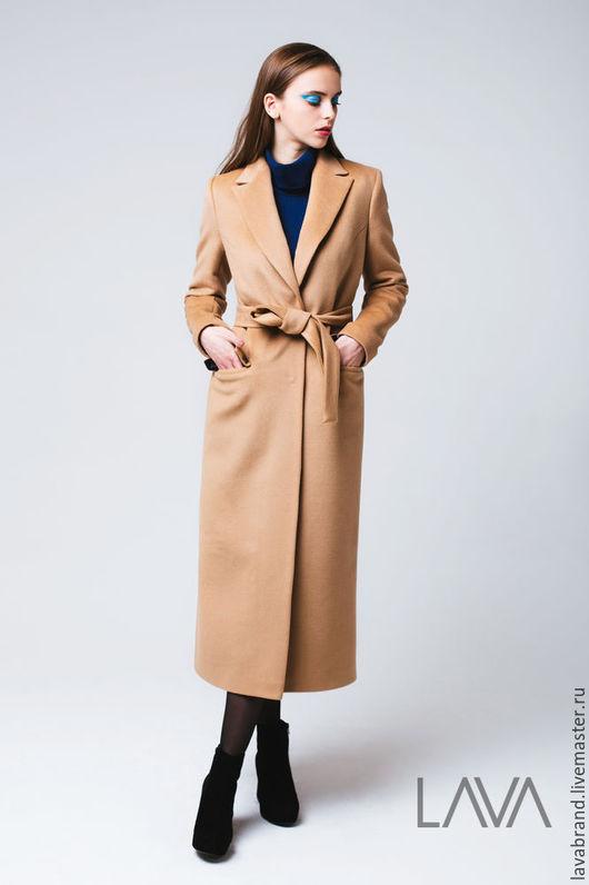 Верхняя одежда ручной работы. Ярмарка Мастеров - ручная работа. Купить Пальто Бежевое Camel. Handmade. Бежевый, кашемировое пальто