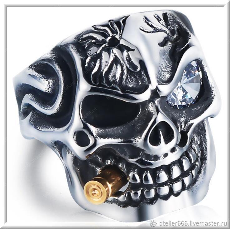Men's Skull ring No. 5 steel, Ring, Moscow,  Фото №1