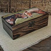 Для дома и интерьера handmade. Livemaster - original item Box-copernica Horse Box copernica decoupage. Handmade.
