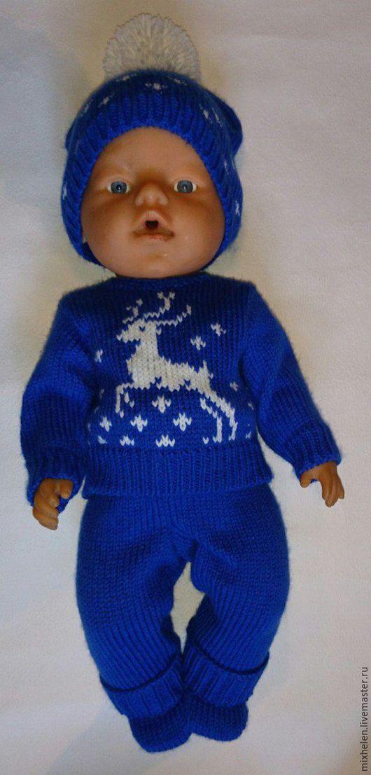 Одежда для кукол ручной работы. Ярмарка Мастеров - ручная работа. Купить Комплект для Беби Бон Зимний. Handmade. Тёмно-синий