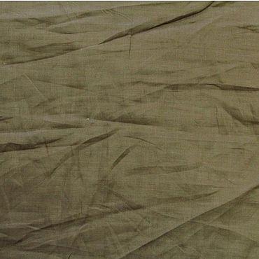 Материалы для творчества ручной работы. Ярмарка Мастеров - ручная работа Крапивный батист.  Цвет каштановый.. Handmade.