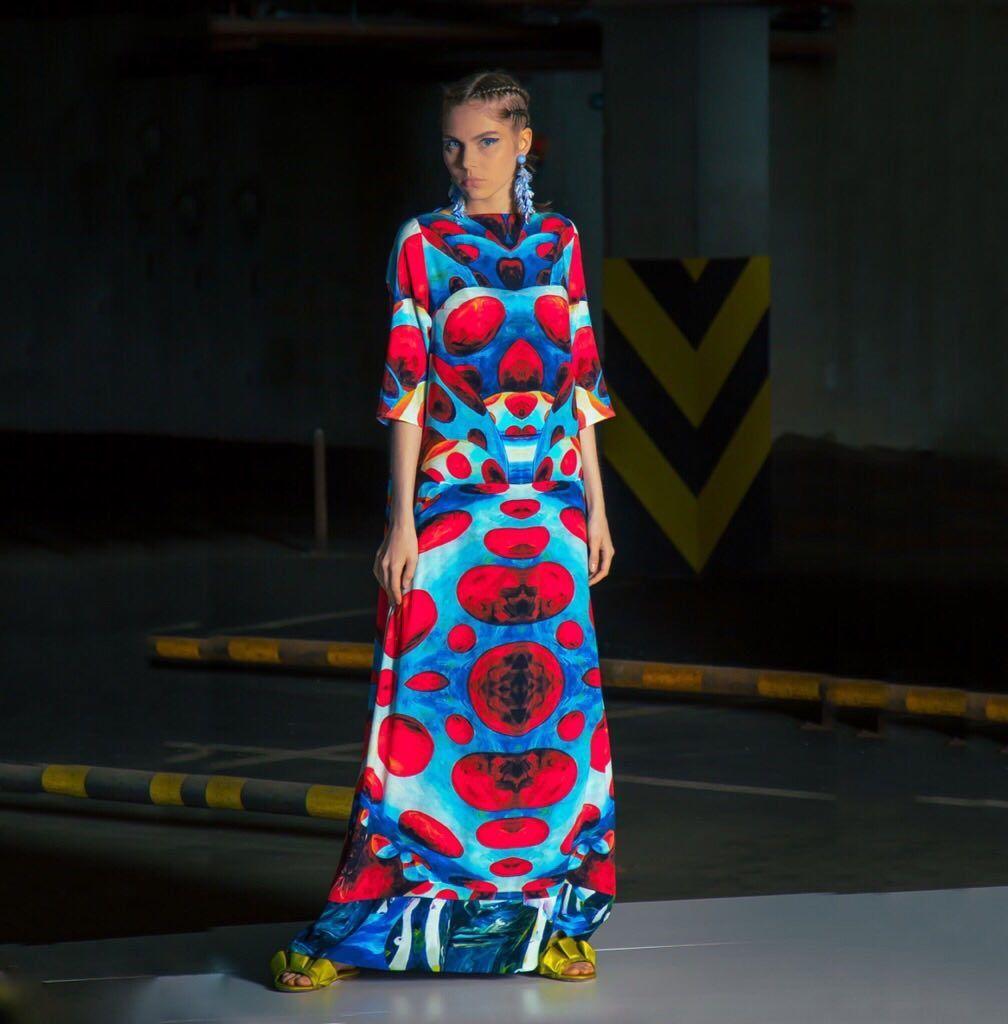 1d7efa83339 Платья ручной работы. Ярмарка Мастеров - ручная работа. Купить Авторское шелковое  платье Яёи Кусама ...