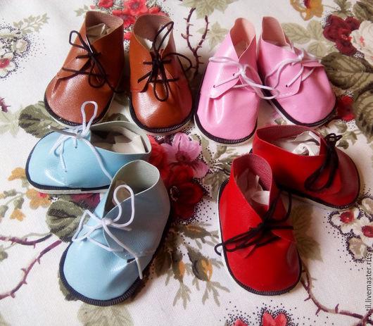 Куклы и игрушки ручной работы. Ярмарка Мастеров - ручная работа. Купить Ботиночки для игрушек 8см. Handmade. Коричневый, обувь для кукол