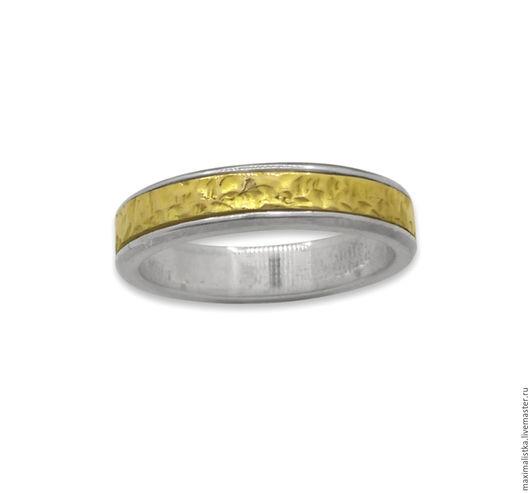 """Кольца ручной работы. Ярмарка Мастеров - ручная работа. Купить Кольцо """"Классика"""" из золота и серебра, классическое обручальное. Handmade. Золотой"""