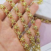 Материалы для творчества handmade. Livemaster - original item 50cm Chain 7 mm (thickness) Gold plated (5312). Handmade.