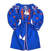 "Одежда handmade. Livemaster - original item Stylish embroidered dress ""Geometric Perfection"". Handmade."