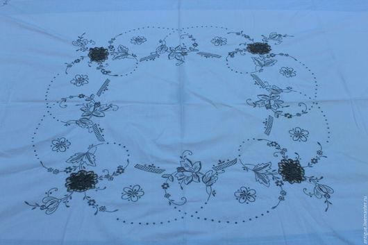 Винтажные предметы интерьера. Ярмарка Мастеров - ручная работа. Купить Винтажная круглая скатерть,ришелье и ручная вышивка,Англия. Handmade.