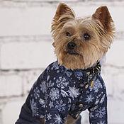 """Для домашних животных, ручной работы. Ярмарка Мастеров - ручная работа Комбинезон для собак """"Снежный Барс"""". Handmade."""