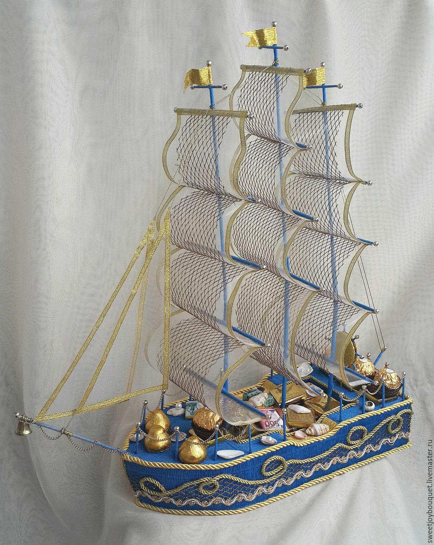 Букеты из конфет своими руками корабль 41