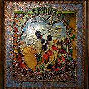 Картины и панно ручной работы. Ярмарка Мастеров - ручная работа Витраж весна. Handmade.