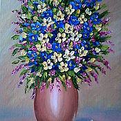 """Картины и панно ручной работы. Ярмарка Мастеров - ручная работа """"Милые цветочки"""" 25х35 холст масло. Handmade."""
