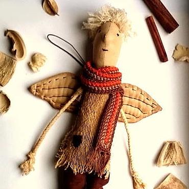 """Куклы и игрушки ручной работы. Ярмарка Мастеров - ручная работа Интерьерная текстильная кукла """"Кофейный ангел"""". Handmade."""