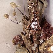"""Украшения handmade. Livemaster - original item Кулон """"Ходики для счастливых"""" с горным хрусталем. Handmade."""