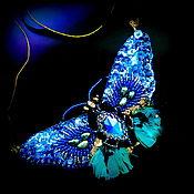 Украшения handmade. Livemaster - original item Brooch butterfly brooch convertible necklace-transformer, necklace butterfly. Handmade.