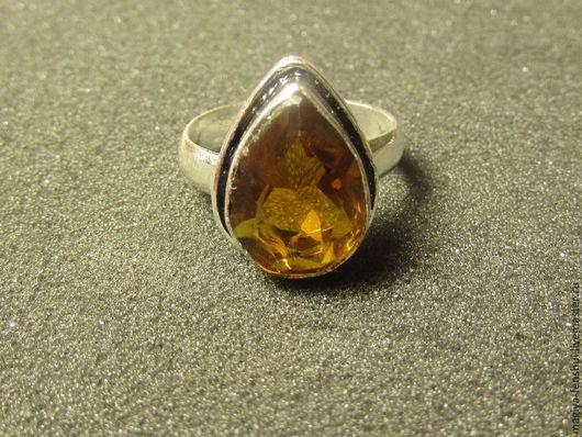 Кольца ручной работы. Ярмарка Мастеров - ручная работа. Купить кольцо с цитрином. Handmade. Оранжевый, цитрин