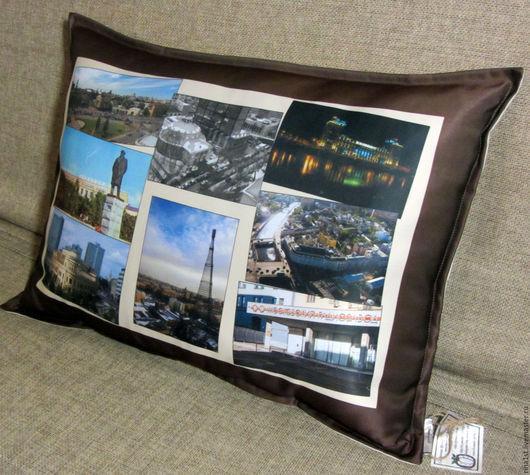 Персональные подарки ручной работы. Ярмарка Мастеров - ручная работа. Купить подушка с фотографиями. Handmade. Комбинированный, подушка с фотопринтом