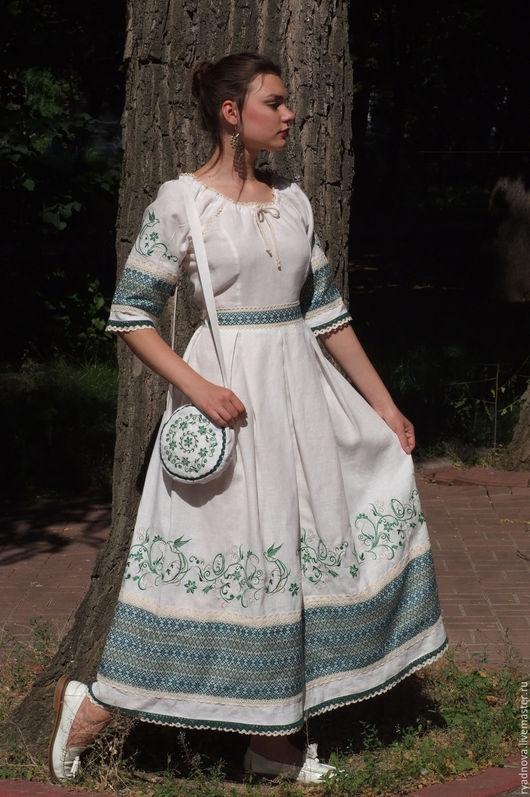 Платья ручной работы. Ярмарка Мастеров - ручная работа. Купить платье Березка. Handmade. Белый, нарядное платье