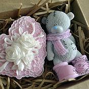 Подарки к праздникам ручной работы. Ярмарка Мастеров - ручная работа Набор с мишкой тедди. Handmade.