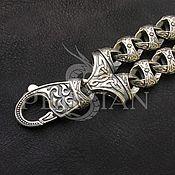 Украшения handmade. Livemaster - original item Silver bracelet for men,double. Handmade.