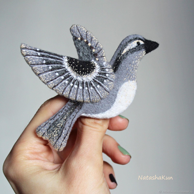 Brooch 'Grey Bird', original gift, Brooches, Ust-Ilimsk,  Фото №1