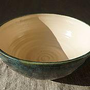 Посуда ручной работы. Ярмарка Мастеров - ручная работа Миска сине-зеленая. Handmade.