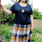 Одежда ручной работы. Ярмарка Мастеров - ручная работа Летнее платье Клетка. Handmade.
