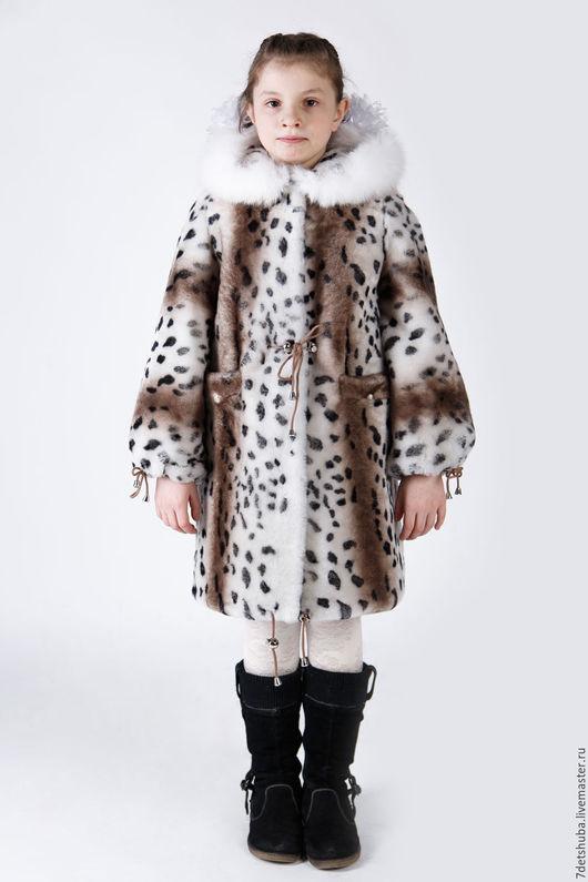 Одежда для девочек, ручной работы. Ярмарка Мастеров - ручная работа. Купить Детская шубка из натурального меха - мутон. Handmade. Белый