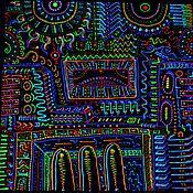 """Картины и панно ручной работы. Ярмарка Мастеров - ручная работа Флуоресцентная картина """"Gadget-maniac"""". Handmade."""