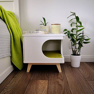 Для домашних животных, ручной работы. Ярмарка Мастеров - ручная работа Дизайнерский домик для кошки или маленькой собаки.. Handmade.