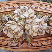 Для дома и интерьера ручной работы. Ярмарка Мастеров - ручная работа Шкатулка деревянная Белые розы. Handmade.