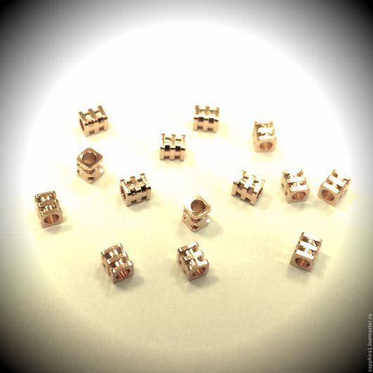 Для украшений ручной работы. Ярмарка Мастеров - ручная работа. Купить Бусина тройная 2,0:2,4 мм. Handmade.