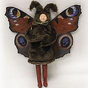 Куклы и игрушки ручной работы. Ярмарка Мастеров - ручная работа Авторская кукла. Бабочка в шубе. Handmade.