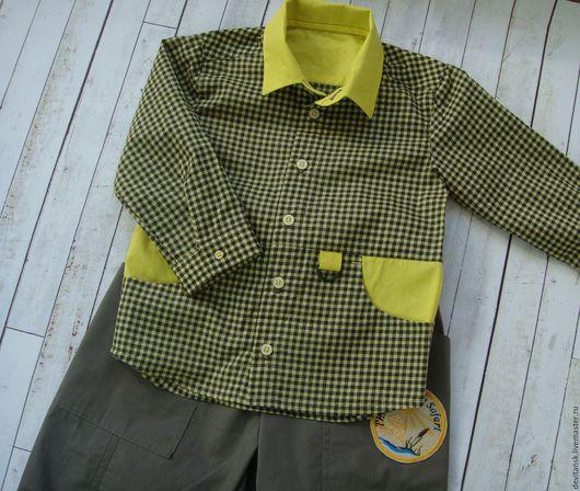 """Одежда для мальчиков, ручной работы. Ярмарка Мастеров - ручная работа. Купить Брюки и рубашка для мальчика """"Лесное сафари"""". Handmade. Хаки"""
