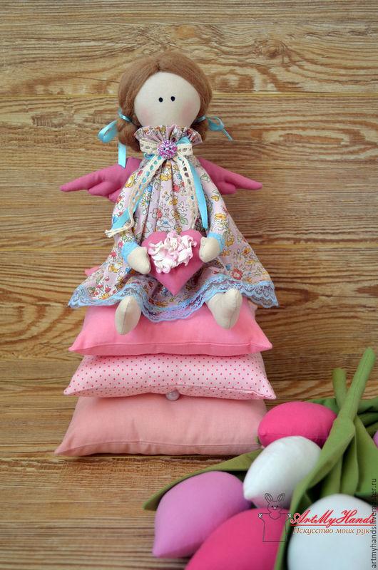 Куклы Тильды ручной работы. Ярмарка Мастеров - ручная работа. Купить Принцесса на горошине. Handmade. Розовый, тильда ангел